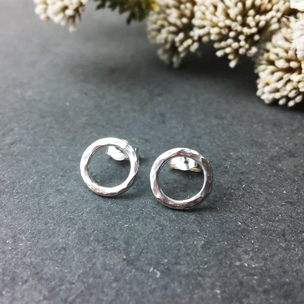 Handmade open circle earrings