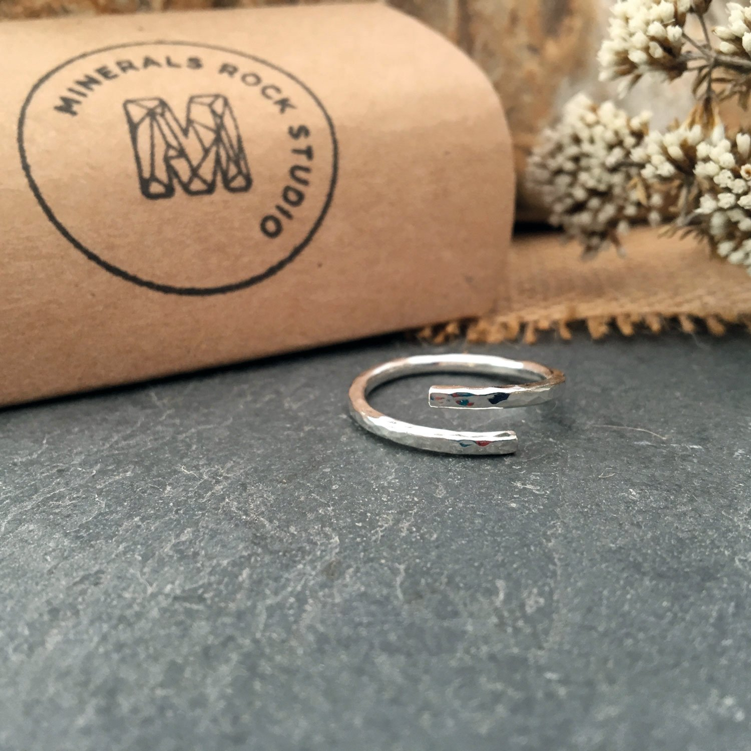 sterling silver wrap ring box