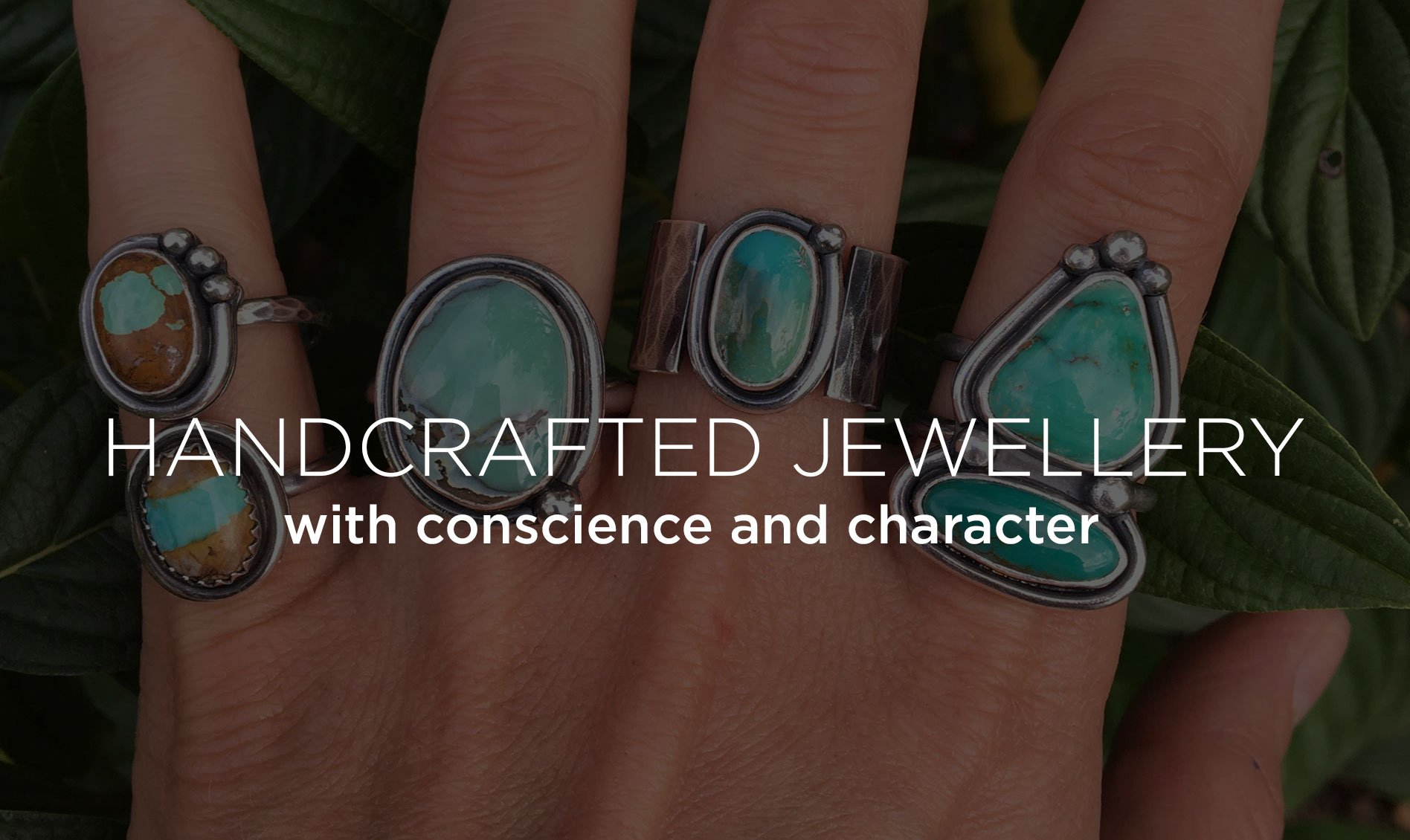 turquoise rings made in Hampshire uk